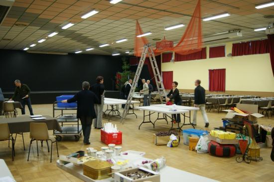 la préparation de la salle