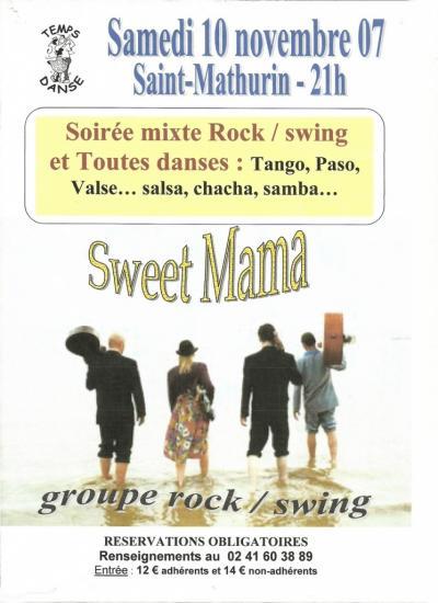 L'affiche de la soirée dansante