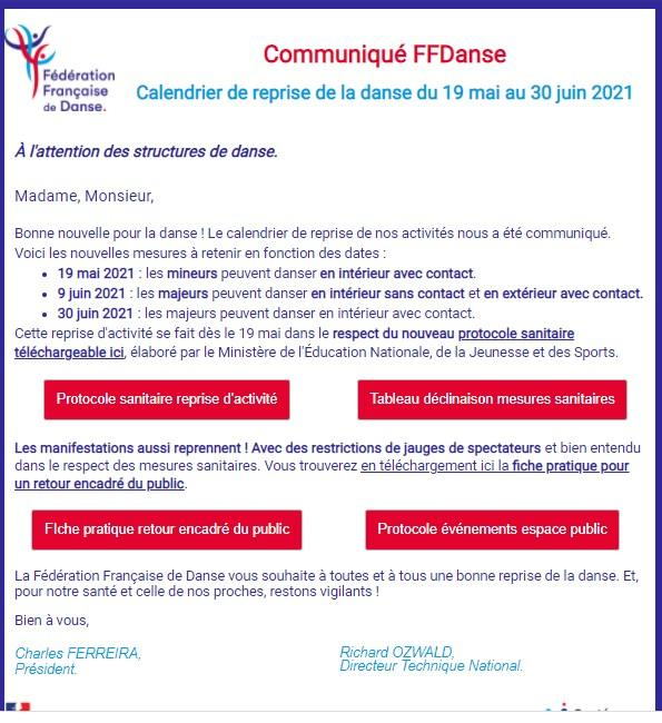 Communique ffdanse 2021 05 16